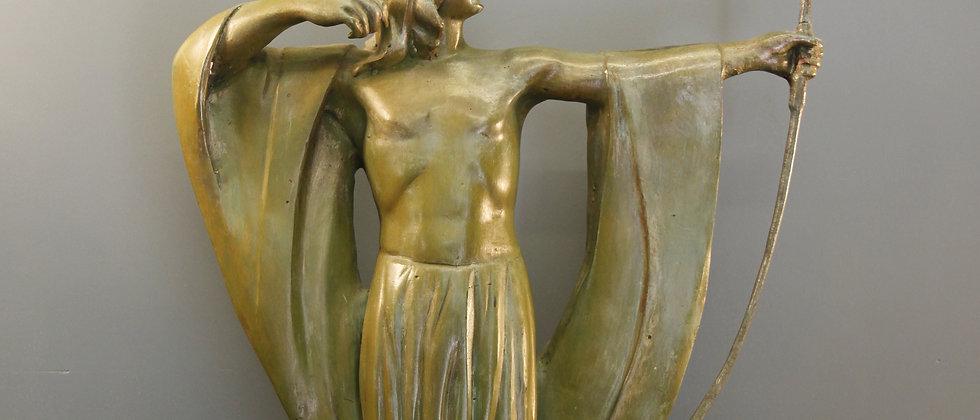Painted Bronze Archer.