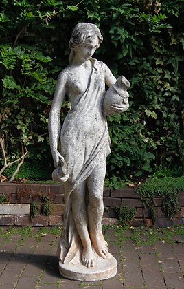 Outdoor Statue, Lady Holding Two Water Jugs.