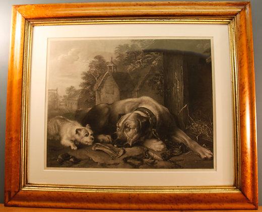 'Nothing Venture, Nothing Have' Original 19th Century Engraving