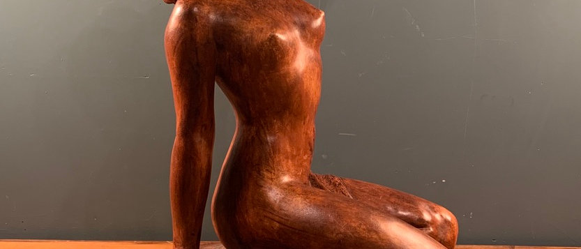 Beautiful Terracotta Naked Lady. Signed by de Ronnens.