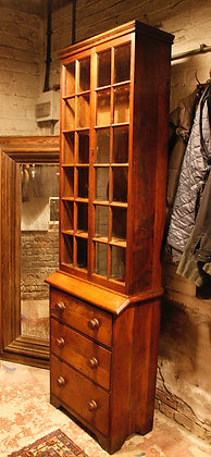 Very Tall Oak Gun Cabinet or Display Cabinet