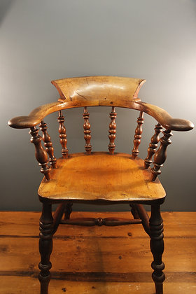 Beautiful Elm Wood Elbow Chair Early 19th Century