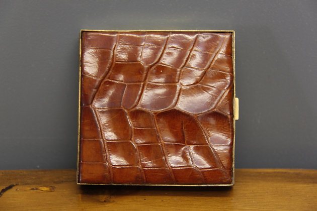 Crocodile Skin Cigarette Case