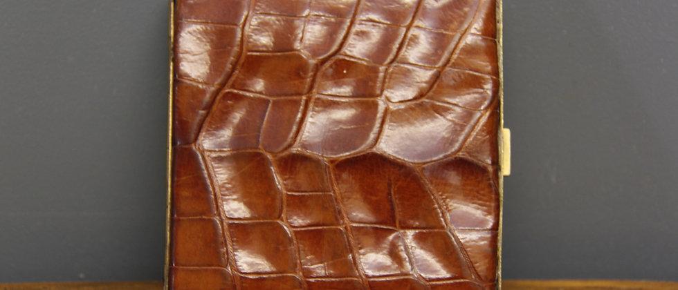 Crocodile Skin Cigarette Case