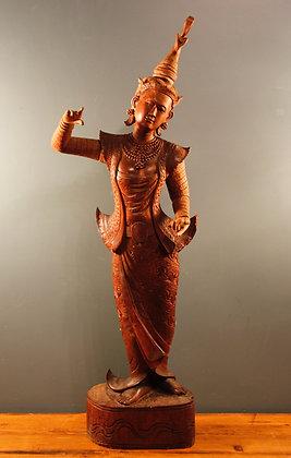Gorgeous Wooden Thai Female Buddha