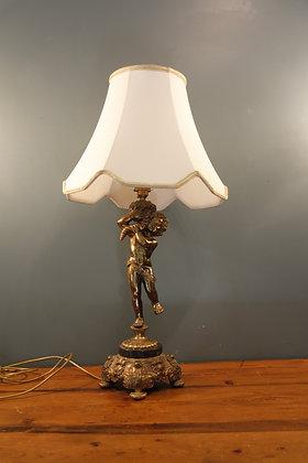 Heavy Brass Cherub Lamp
