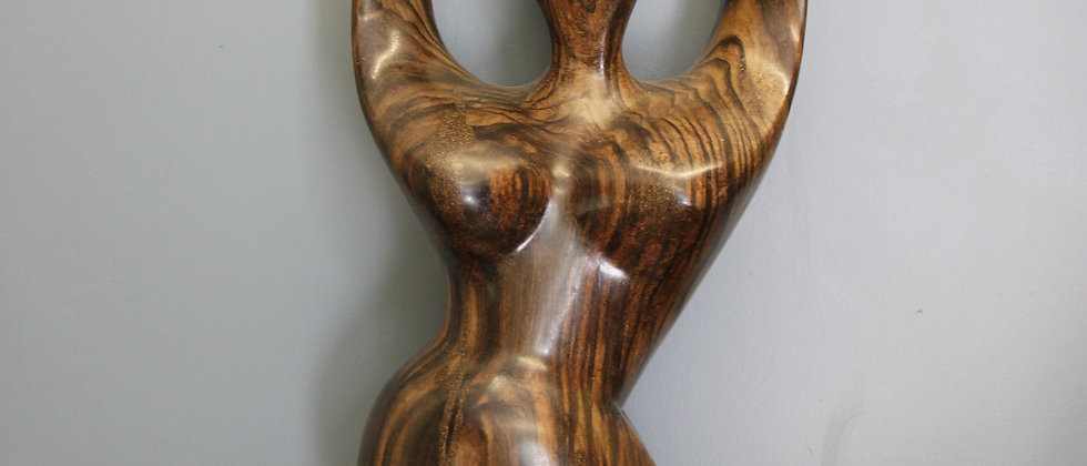 Beautiful Wooden Carving of a Woman