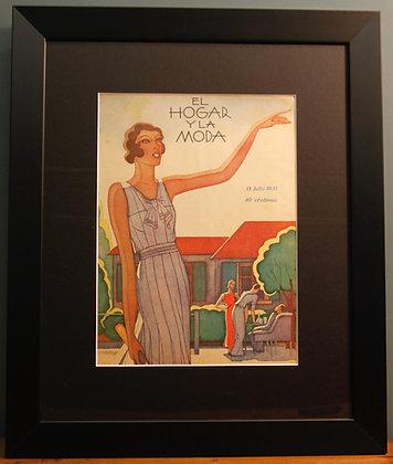 El Hogar Y La Moda. Original 1920's. (Tennis)