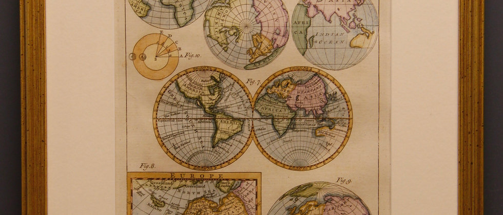 Framed Cartographic Chart 1780