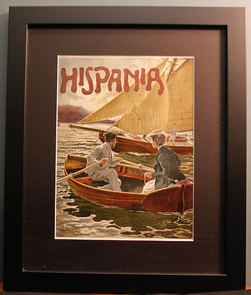 Original 1920's Spanish Print. (Boating)