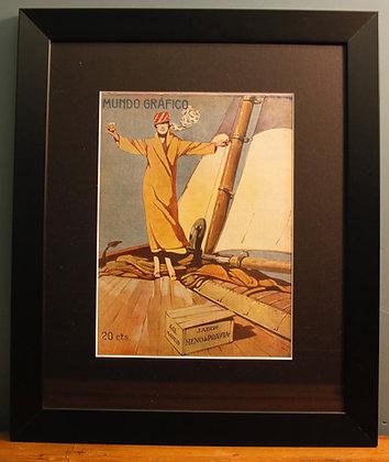 Mundo Grafico. Original 1920's (Sailing)