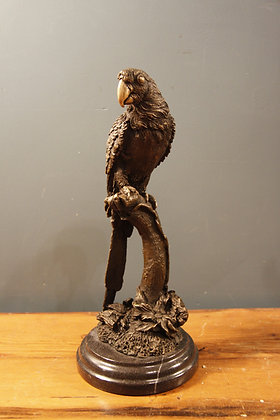Small Bronze Parrot on a Marble Base