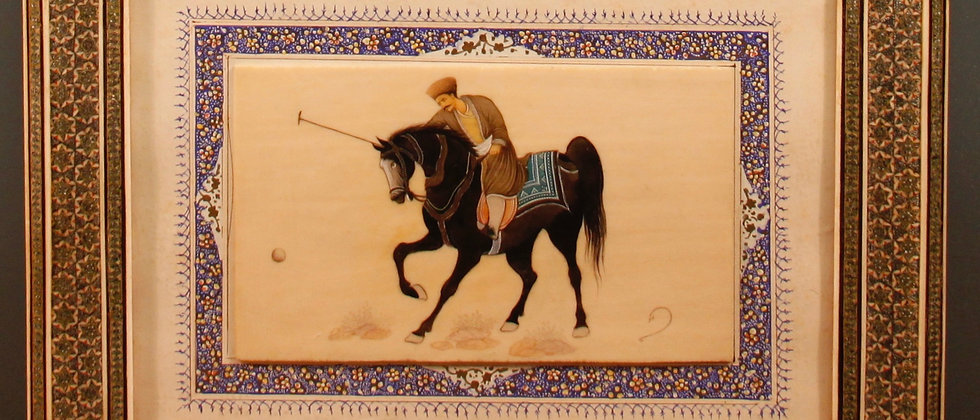 Beautifully Framed Polo Player, Original Watercolour.