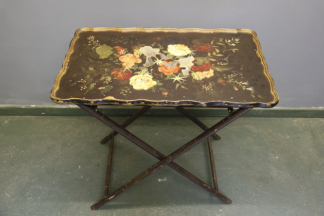 Antique Lovely Painted Tray Table