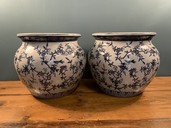 Stunning Hand Painted Chinese Planters