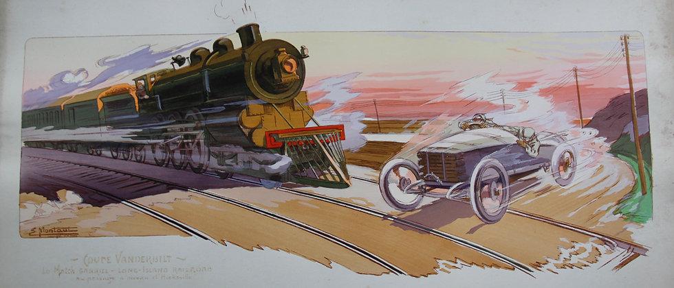 Gamy and Montaut. c1910. Train. Pochoir