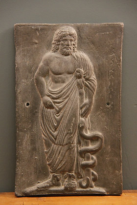 Greek Medicinal (ASCLEPIUS) Lead Plaque