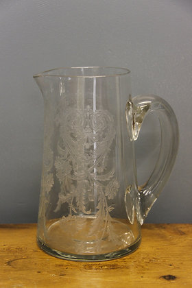 Etched Glass Jug.