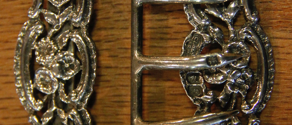 Late 19th Century Decorative Silver Buckle. Made In London