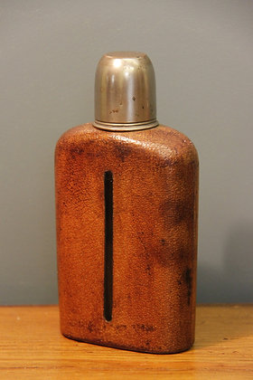 Leather, Glass and Silvered Flask