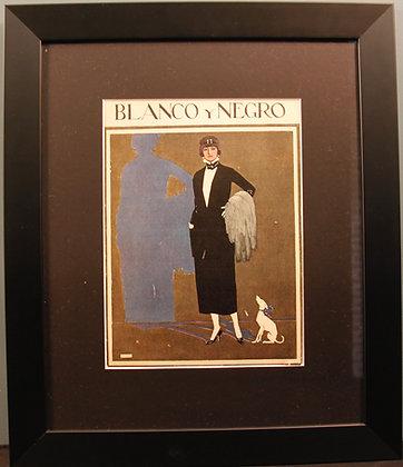 Blanco Y Negro Original 1920's Print (Fashion with dog)