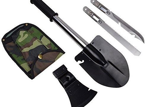 4 in 1 Camping Folding Shovel Axe / Blade / Saw High-Carbon Steel