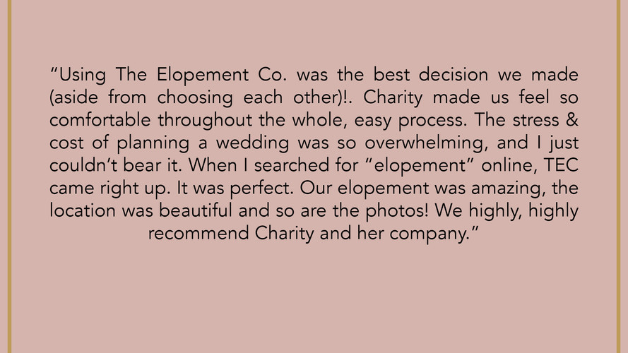 The Elopement Co. Reviews
