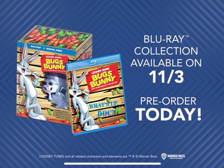 BUGS BUNNY: 80TH ANNIVERSARY    BLU-RAY™ REVEALED FROM WBHE!