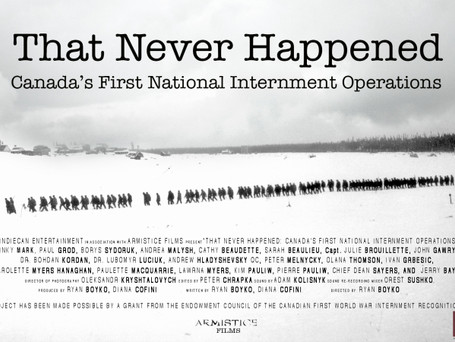 THAT NEVER HAPPENED broadcast premiere on documentary Channel, Wednesday, November 20th at 9pm ET/PM