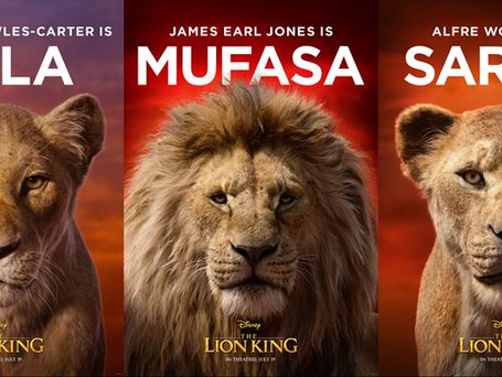 """11 NEW CHARACTER POSTERS FROM """"THE LION KING"""" RELEASED BY DISNEY"""