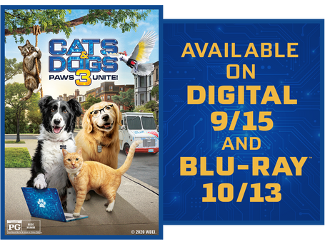 """""""CATS & DOGS: PAWS UNITE!"""" – CHECK OUT THE FIRST CLIP FROM WBHE!"""