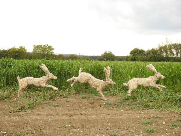 Three Running Hares