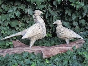 Straw Pheasant and Straw Partridge