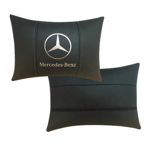 """Автоподушка """"Mercedes"""" серебро"""