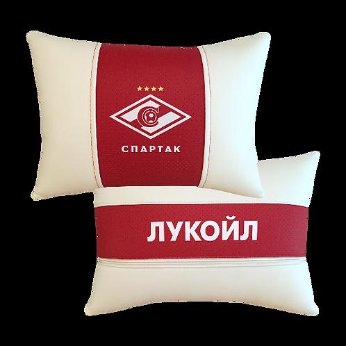 """Подушка """"ФК Спартак"""" белая"""