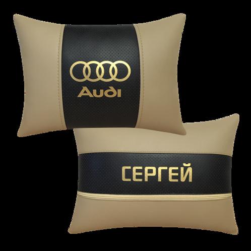 """Автоподушка """"Audi"""" золото"""