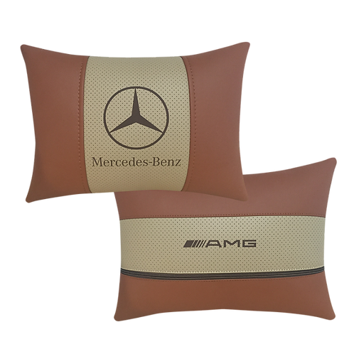 "Автоподушка ""Mercedes"" коричневая/беж"
