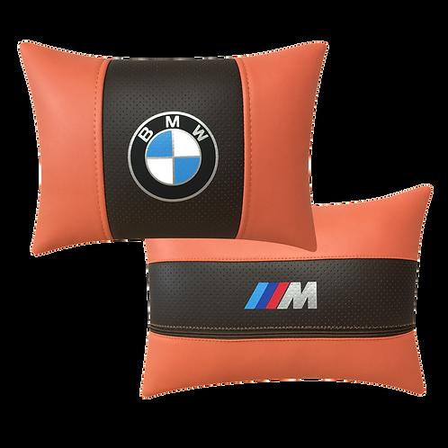 """Автоподушка """"BMW M"""" оранж-т.коричн."""