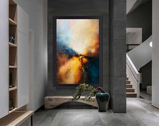 Genesis Birth painting by Lloyd Mitchell