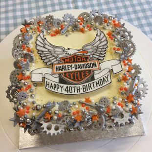 Harley-Davidson themed cake