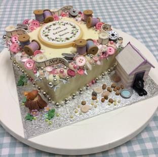 A retirement cake