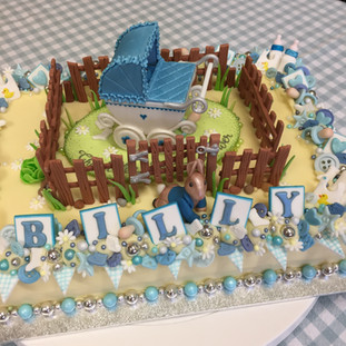A Peter Rabbit themed Baby Shower cake