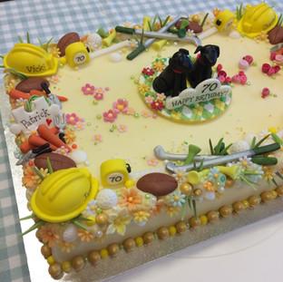 Birthday cake for a chartered surveyor