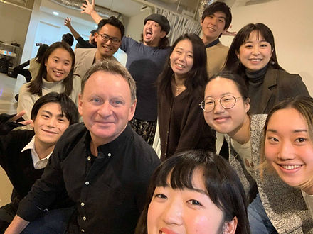 Rob Rawles teaching English as a foreign langage through drama - Japan workshops - February 2019