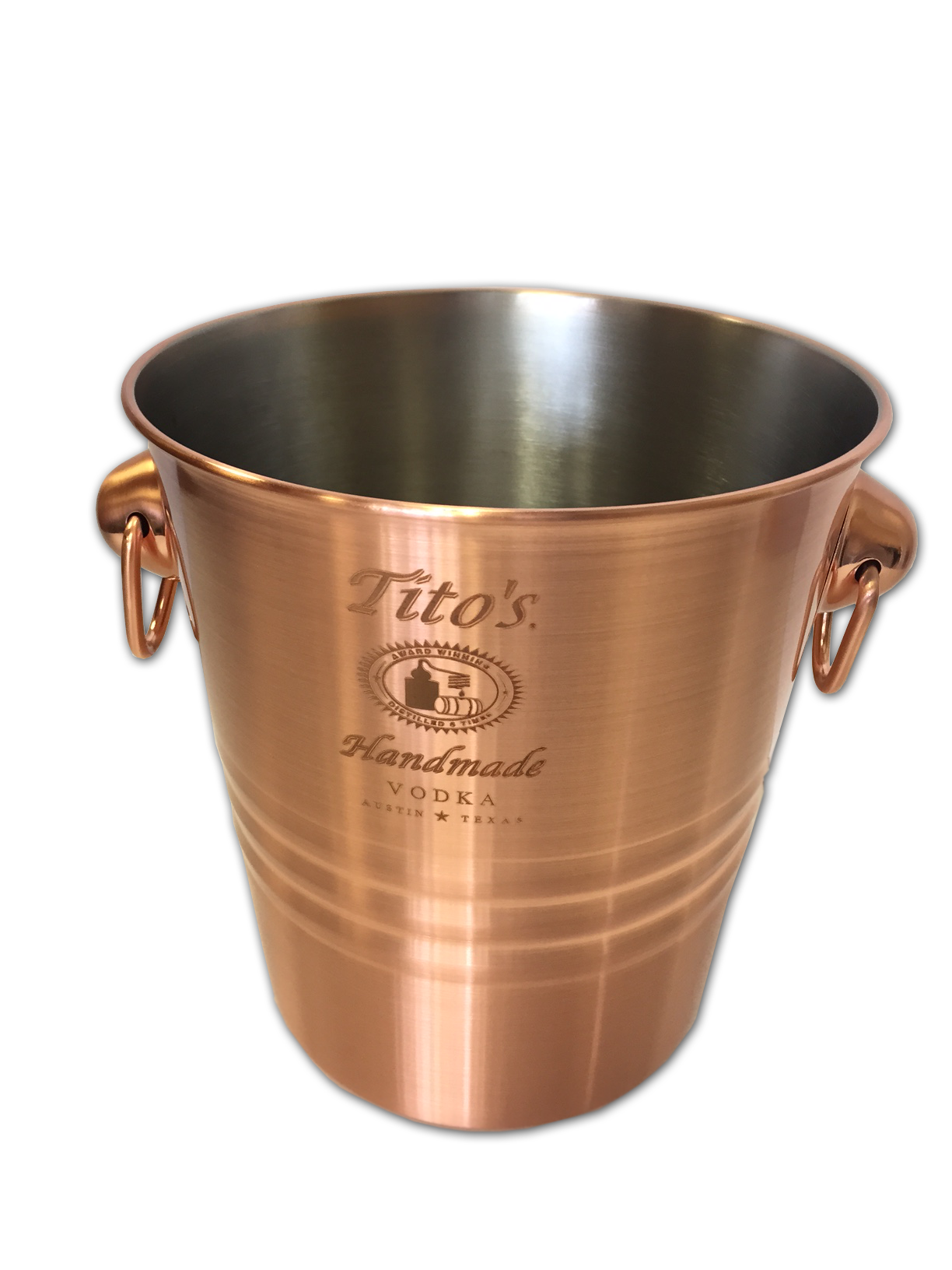 Copper plated ice bucket