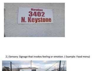 Sensory Signs Vs Informational Signs