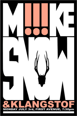 Mike Snow Concert Poster