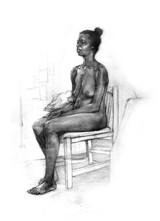 Six Hour Figure Drawing, 2018, Cyelowyn Willey