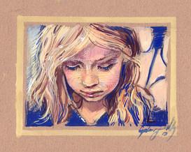 Gouache Girl, 2017, Cyelowyn Willey