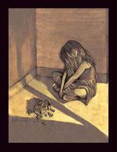 Bleach Painting- Fragile, 2016, Cyelowyn Willey